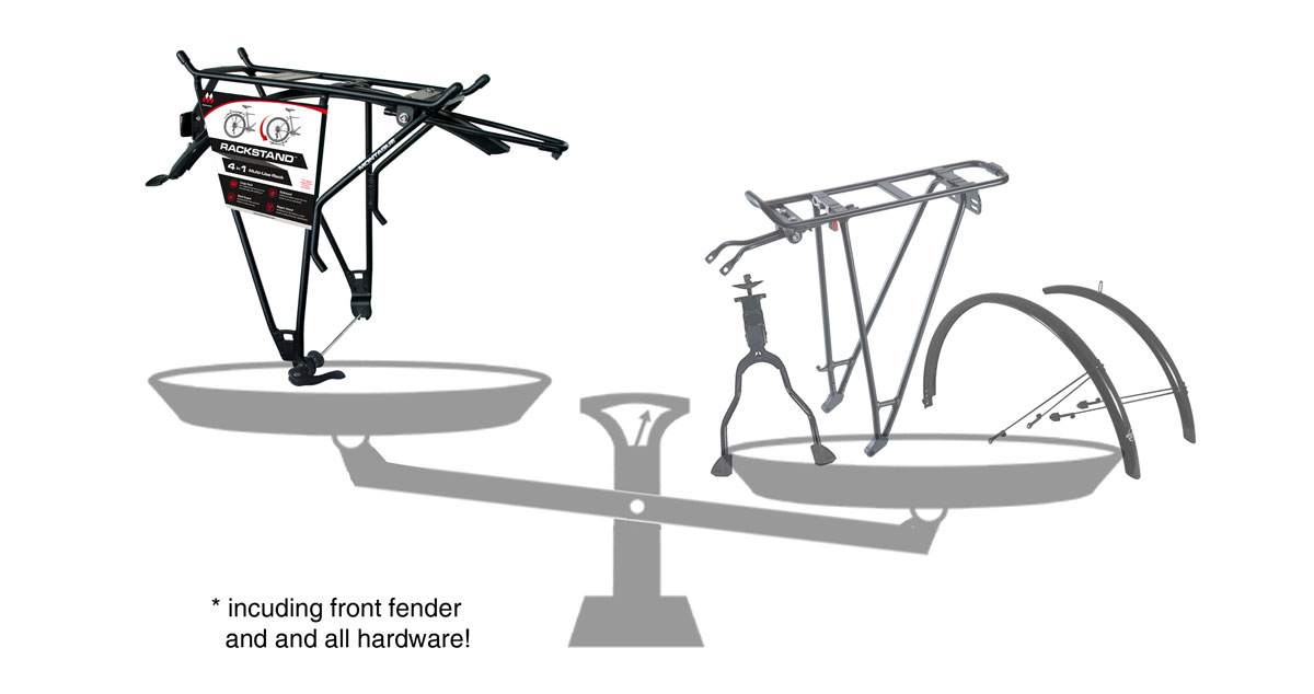 RackStand Weight Comparison with Separate Components