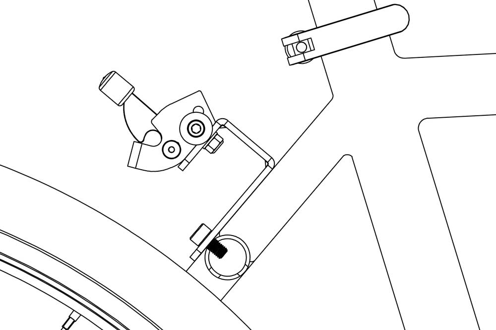 RackStand J-bracket on bike 1