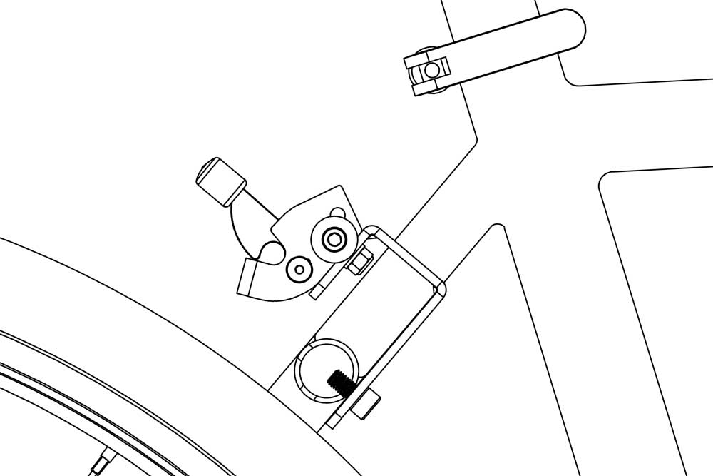 J-bracket on bicycle diagram 3