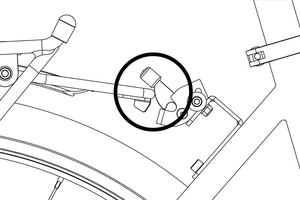Latch and RackStand Arm Alignment Diagram
