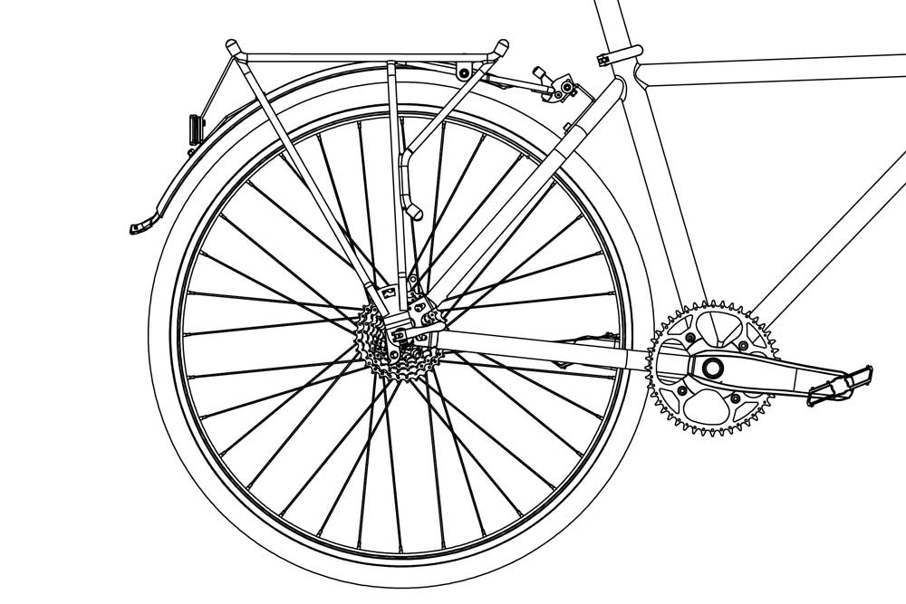 RackStand in Up position diagram